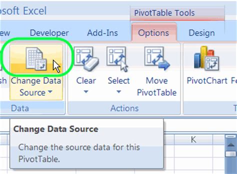 Change Pivot Table Source Data Change Pivot Table Data Range Ms Excel 2010 How To Change Data Source For A Pivot Table How
