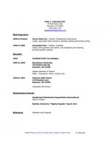 Job Resume Examples For College Students by The Most Amazing High Student Resume First Job
