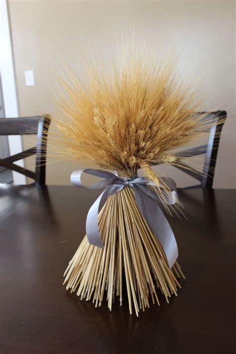 Dried Wheat Bundle Centerpiece Weddingbee Photo Gallery Dried Wheat Centerpieces