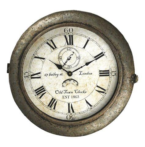 industrial wall clock bailey industrial rustic grey steel wall clock