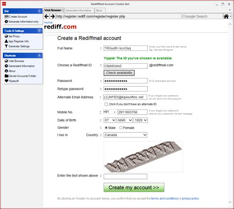Rediffmail Email Id Search Rediff Email Account Creator Bot Crackit Indonesia