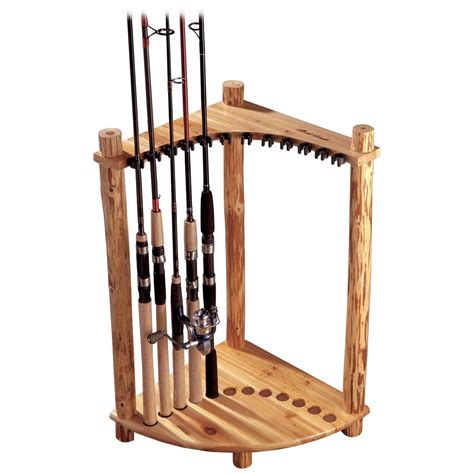 creek log corner fishing rack 143354 fishing rod