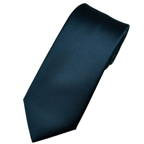 plain navy satin tie from ties planet uk