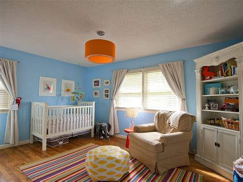 carson s gender neutral orange blue room project nursery