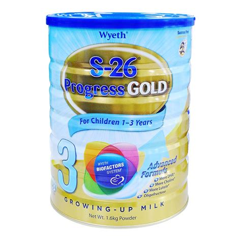 Formula Wyeth S 26 Stage 3 Progress Gold Milk Powder 1 6kg 1 3yrs
