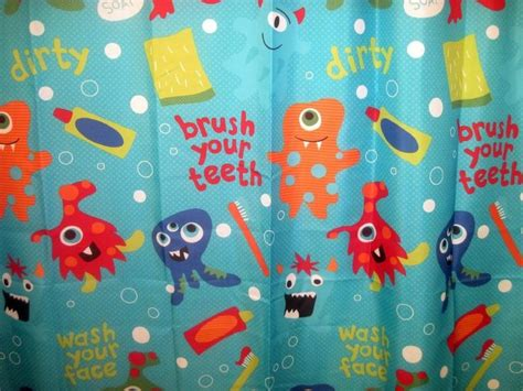 jumping beans monster bathroom jumping beans monster graphics fabric shower curtain kids