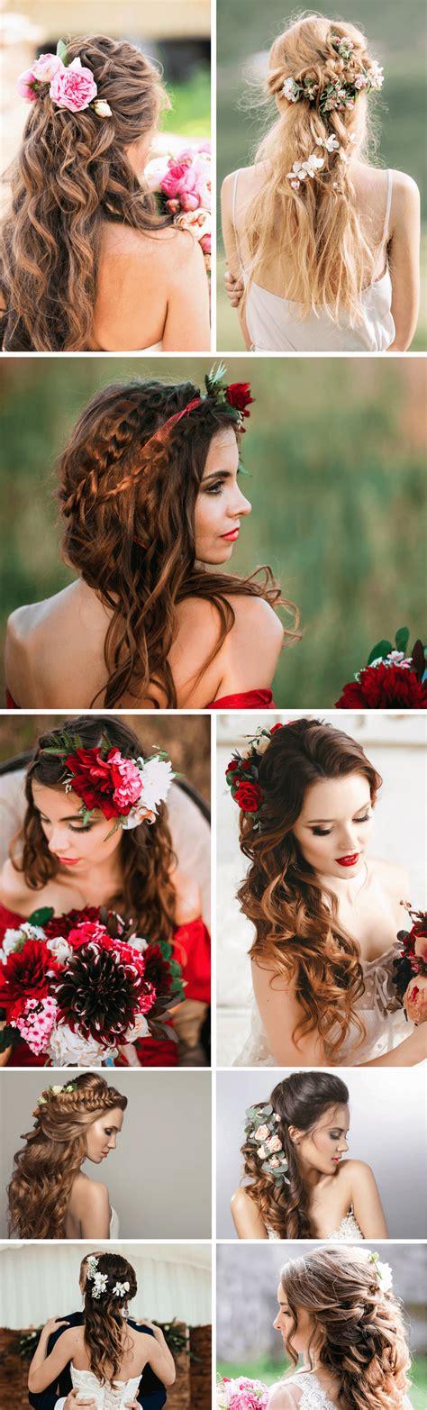 Blumen Brautfrisur by Brautfrisuren Mit Blumen 25 Ideen F 252 R Blumen Im Haar