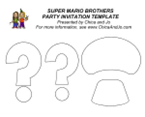 mario invitation template mario brothers templates images