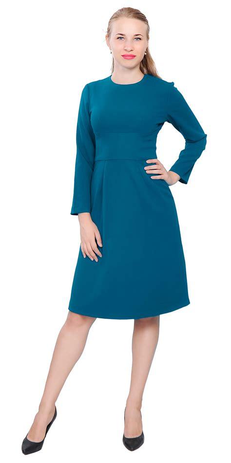 27767 X Line Dress womens work office business dress sleeve a line knee length dresses ebay