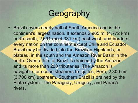 5 themes of geography on brazil brazil