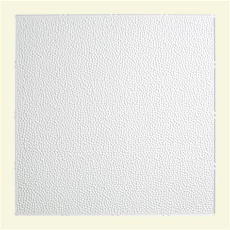 Home Depot Ceiling L by Fasade Hammered 2 Ft X 2 Ft Lay In Ceiling Tile In