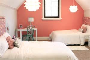 delightful Kardashian Bedding #1: Danielle-Oakey-Interiors-coral-girls-room.png