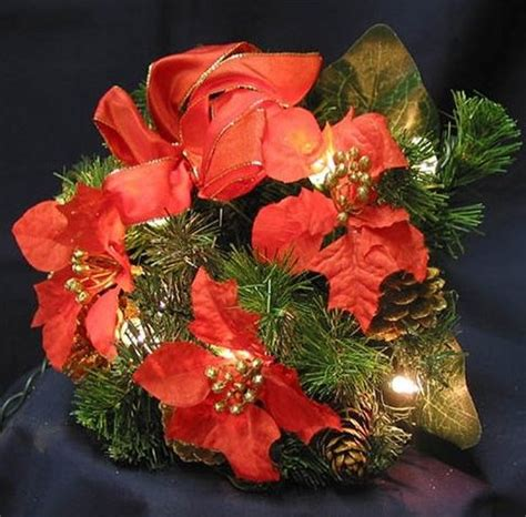 clear poinsetta holiday flower xmas lights home decorating