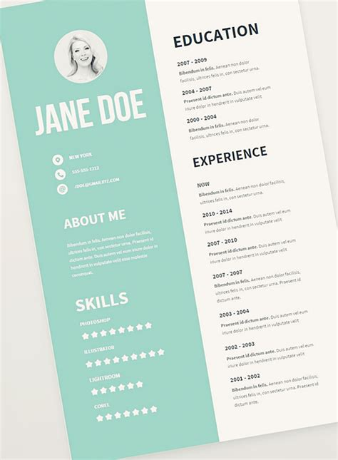 graphic design resume template free cv resume psd templates freebies graphic design