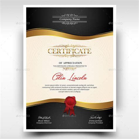 certificate psd template 15 fascinating printable certificates of appreciation