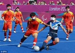 paralympics blind football 2012 olympics hockey pitch for sale daily mail