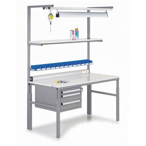 work bench accessories treston height adjustable tph workbenches action storage