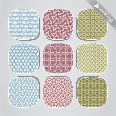 9 fresh seamless vector patterns graphicswall