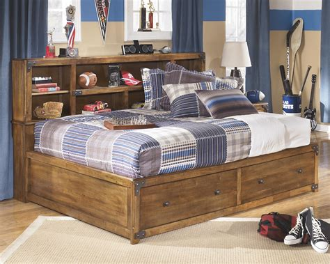 bed with bookcase footboard signature design by ashley delburne full bookcase bed with