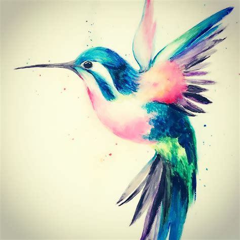 watercolor bird tattoo hummingbird watercolor my gallery
