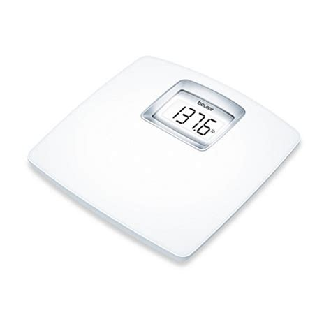 beurer bathroom scale buy beurer white lcd digital bathroom scale from bed bath