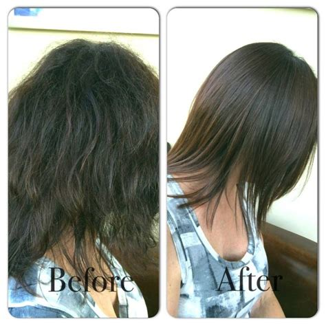 haircut before after keratin keratin express blowout before and after hair