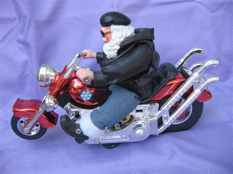 christmas santa on motorcycle sings born to be wild santa