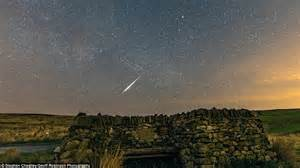 lyrid meteor shower last night i went out to pawnee images reveal meteors streaking across the night sky