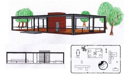 philip johnson glass house floor plan the philip johnson 1949 glass house floor plan and a 3 d