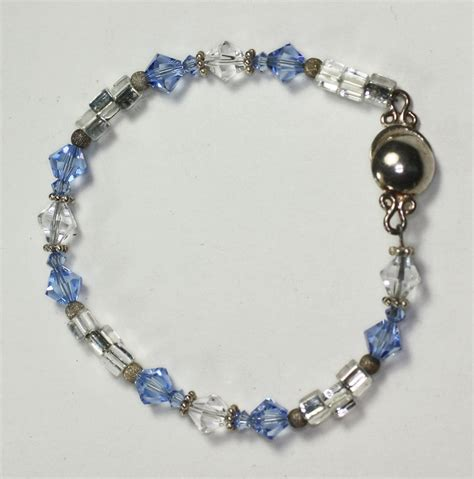 clear bead bracelet blue crystal brclet 3
