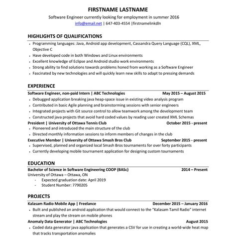 Resume Builder Reddit 100 Reddit Resume Sle Software Engineer Resume