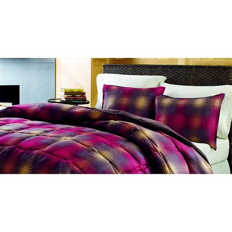 plaid comforter set plaid bedding comforters and bed in a bag sets