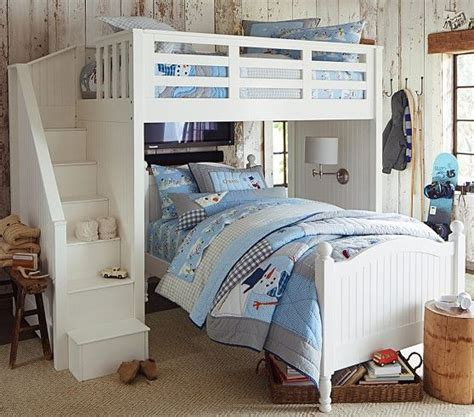 Set Staris Kid stair loft bed bed set pottery barn bunk beds