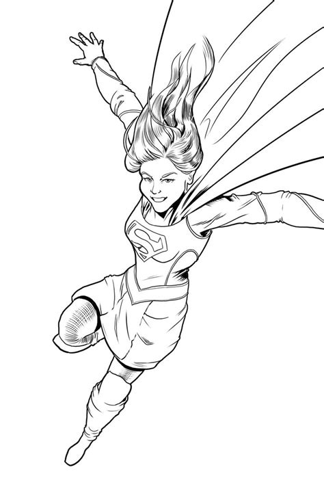 Supergirl Coloring Page By Michaelhowearts On Deviantart Supergirl Coloring Pages For Printable Free