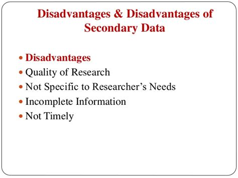 Disadvantages Of Mba In Hr by Data Collection Primary And Secondary