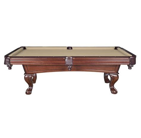 Non Slate Pool Table by Augusta 8 Ft Non Slate Pool Table Walnut Finish Pc Pools