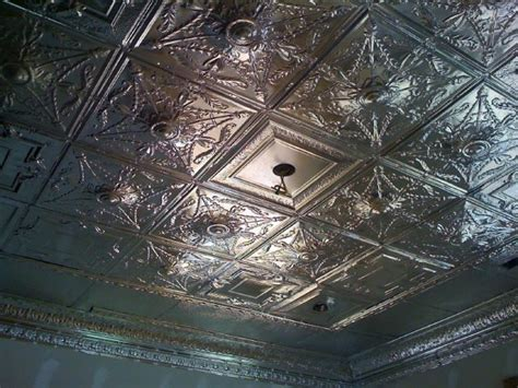 tin ceiling before paint