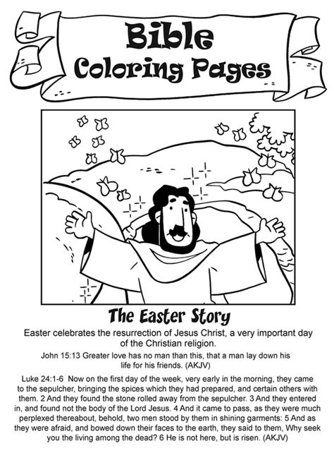 coloring pages for the easter story bible activity pages my house