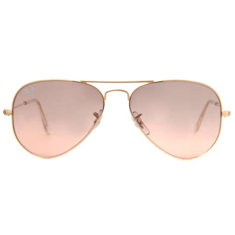 Mirrored Lens Aviator Sunglasses ban rb 3025 mirrored flash lens unisex aviator