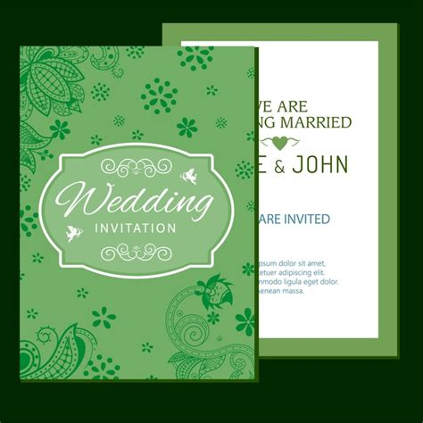 Wedding Card Design With by Wedding Card Design Classical Style With Flowers Design