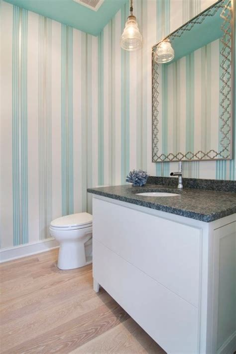 grey and turquoise bathroom flocked turquoise wallpaper contemporary bathroom