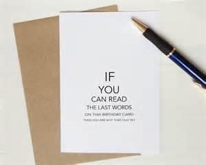 birthday card eye test can you read age black print