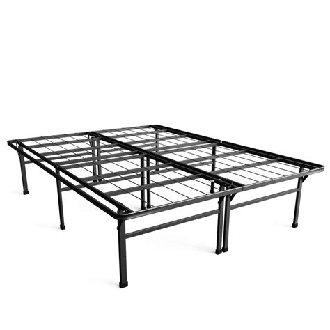 high queen bed frame zinus high profile smartbase queen metal bed frame hd sb13