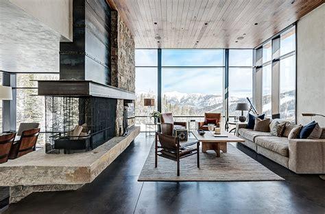 Modern Mountian Retreat Houses Interior Interior Usa House Interior Design