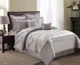 8 piece aubree pinched pleat taupe comforter set