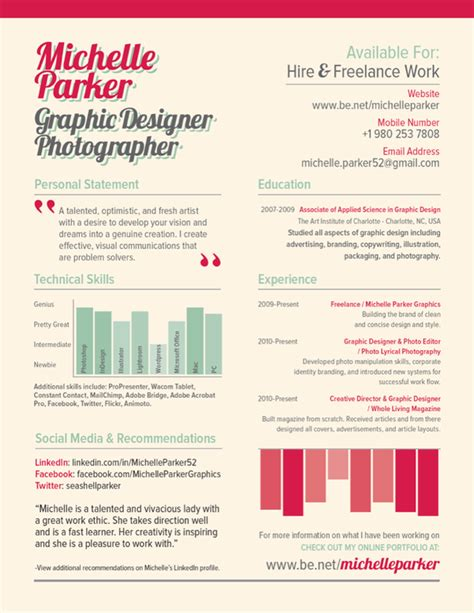 cv resume design inspiration 25 exles of creative graphic design resumes