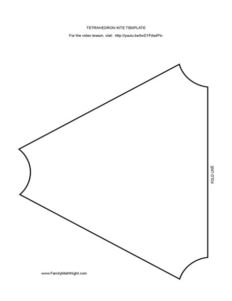 Tetrahedron Kite Template by Tetrahedron Kite Template Free