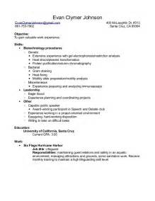 resume lab and biology