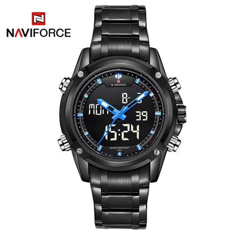 naviforce top brand luxury sport black
