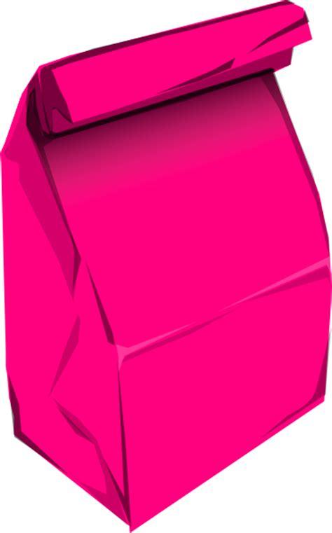Paper Bag Clipart pink paper bag clip at clker vector clip